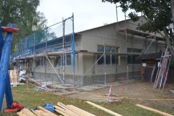 fertige Fassadendämmung