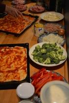 Pizza mit gesunden Zutaten